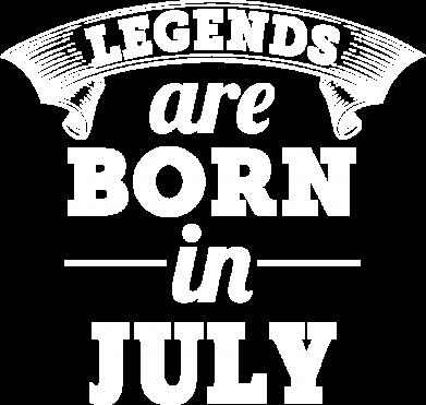 Принт Чоловіча футболка Legends are born in July, Фото № 1 - PrintSalon