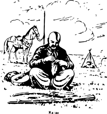 Принт Женская футболка с V-образным вырезом Козак та кінь, Фото № 1 - PrintSalon