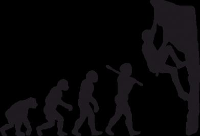 Принт Жіноча футболка Еволюція скелелаза, Фото № 1 - PrintSalon