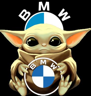 Принт Дитячий бодік Baby yoda bmw, Фото № 1 - PrintSalon