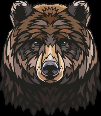 Принт Чашка-хамелеон Bear graphic, Фото № 1 - PrintSalon