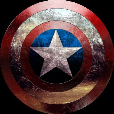 Принт Мужская майка Потрескавшийся щит Капитана Америка - PrintSalon