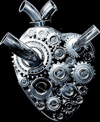 Принт Чоловіча футболка Серце моторчик, Фото № 1 - PrintSalon