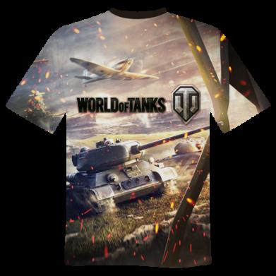 Принт Чоловіча футболка 3D World of Tanksс field fights, Фото № 1 - PrintSalon