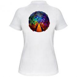 Женская футболка поло Абстракция