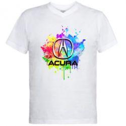 Мужская футболка  с V-образным вырезом Acura Art