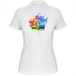 Женская футболка поло Acura Art