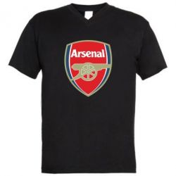 Мужская футболка  с V-образным вырезом Arsenal - PrintSalon