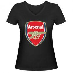 Женская футболка с V-образным вырезом Arsenal - PrintSalon