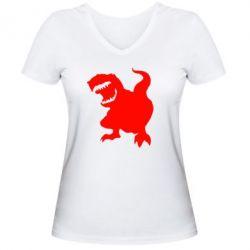 Женская футболка с V-образным вырезом Atilla han - PrintSalon