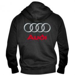 Мужская толстовка на молнии Audi 3D Logo