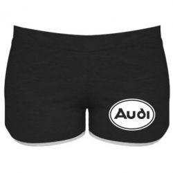 Женские шорты Audi лого