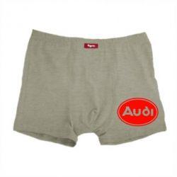 Мужские трусы Audi лого