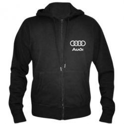 Мужская толстовка на молнии Audi - PrintSalon