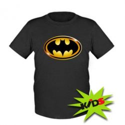 Детская футболка Batman logo Gold - PrintSalon