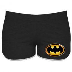 Женские шорты Batman logo Gold - PrintSalon
