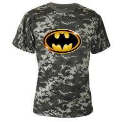 Камуфляжная футболка Batman logo Gold - PrintSalon