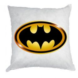 Подушка Batman logo Gold - PrintSalon
