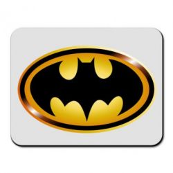 Коврик для мыши Batman logo Gold - PrintSalon
