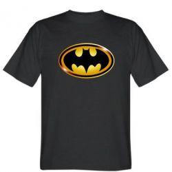 Мужская футболка Batman logo Gold - PrintSalon