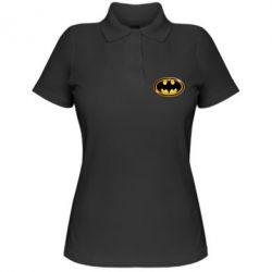 Женская футболка поло Batman logo Gold - PrintSalon