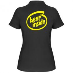 Женская футболка поло Beer Inside - PrintSalon