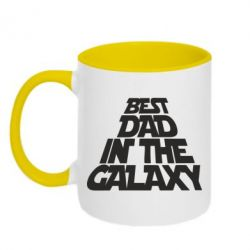 Кружка двухцветная Best dad in the galaxy