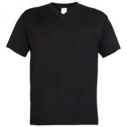 Мужская футболка  с V-образным вырезом Без рисунка - PrintSalon