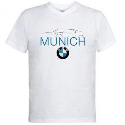 Мужская футболка  с V-образным вырезом BMW Munich