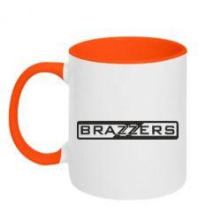 Кружка двухцветная Brazzers Logo