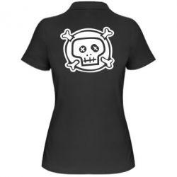 Женская футболка поло Череп  х_х - PrintSalon