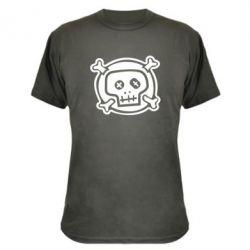 Камуфляжная футболка Череп  х_х - PrintSalon