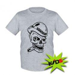 Детская футболка Череп с сигарой