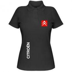 Женская футболка поло Citroen Vertical