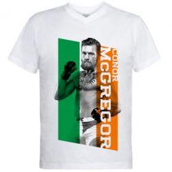 Мужская футболка  с V-образным вырезом Conor UFC - PrintSalon