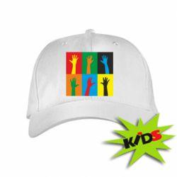 Детская кепка Цветные руки