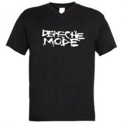 Мужская футболка  с V-образным вырезом Depeche mode - PrintSalon