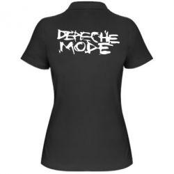 Женская футболка поло Depeche mode - PrintSalon