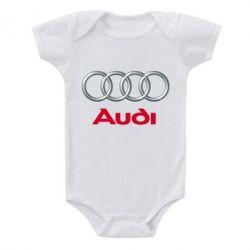 Детский бодик Audi 3D Logo