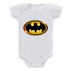 Детский бодик Batman logo Gold - PrintSalon