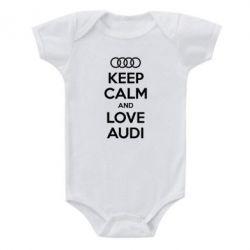 Детский бодик Keep Calm and Love Audi