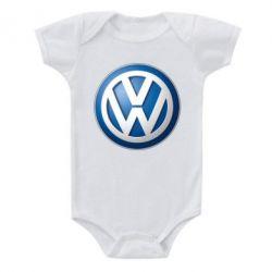 Детский бодик Volkswagen 3D Logo