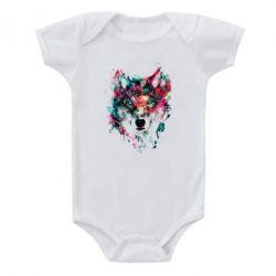 Детский бодик Watercolor Colorful Wolf - PrintSalon
