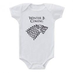 Детский бодик Winter is coming (Игра престолов) - PrintSalon