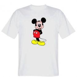 Мужская футболка Довольный Микки Маус - PrintSalon