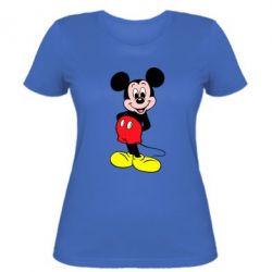 Женская футболка Довольный Микки Маус - PrintSalon