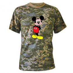 Камуфляжная футболка Довольный Микки Маус - PrintSalon
