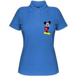 Женская футболка поло Довольный Микки Маус - PrintSalon