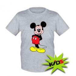 Детская футболка Довольный Микки Маус - PrintSalon