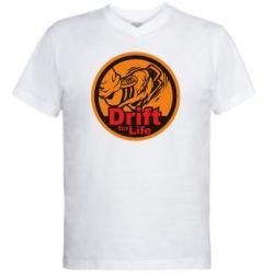 Мужская футболка  с V-образным вырезом Drift for Life